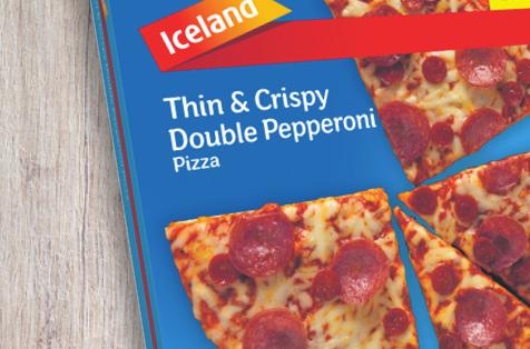 Iceland Thin & Crispy Double Pepperoni Pizza