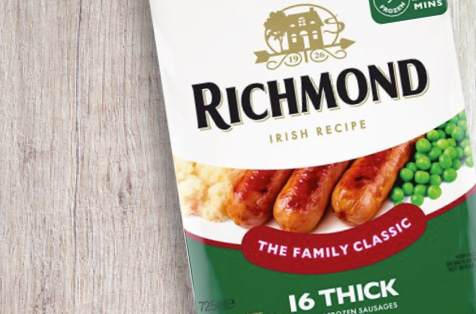 Richmond Irish Recipe Sausages