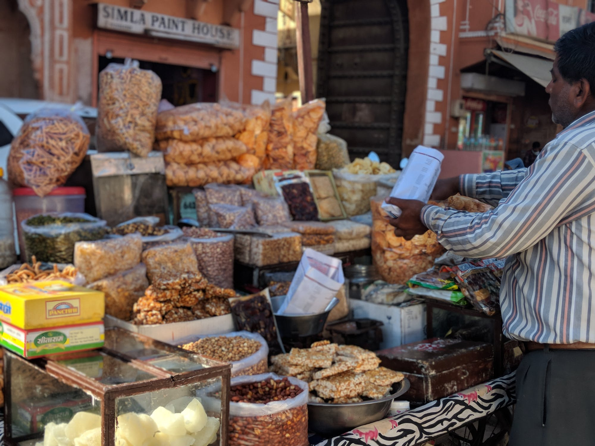 Market with seeds and nuts