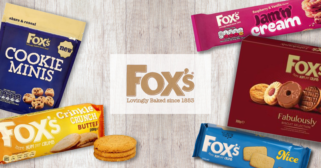 Fox's Biscuits available for export with Smylies!