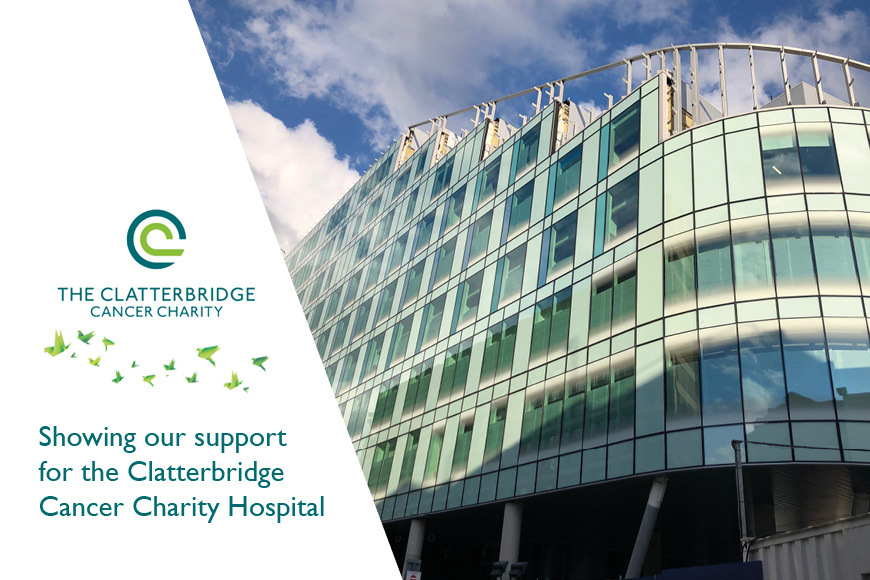 Showing our support for the Clatterbridge Cancer Charity hospital