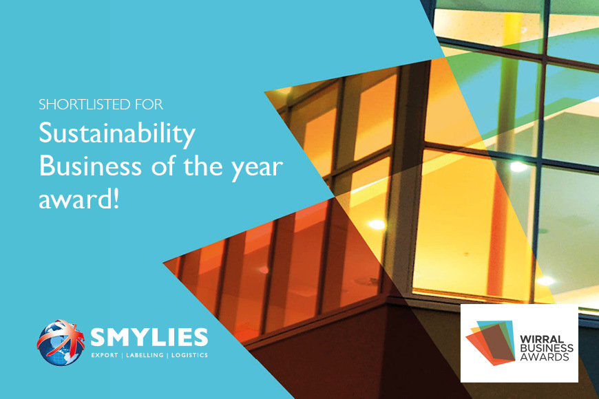 Smylies have been shortlisted for Sustainability Business of the year award!